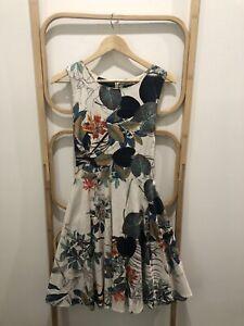 Beautiful Botanical Print Summer Dress Caroline Morgan Size 14