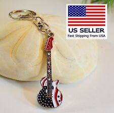 US Guitar Keychain,  Silver,  pefect music Gift