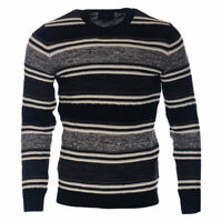 Mens Jumpers Crew Neck Sweatshirt Jersey Casual Knitted Sweater Pullover Top