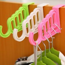 Foldable Clothes Hanger Drying Rack 5 Hole Suit Bathroom Door Organizer Random