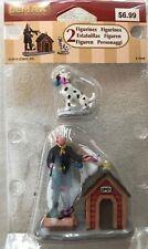 Lemax - Retired Figurine - Dalmatian, Fire man, and Dog House - Nip