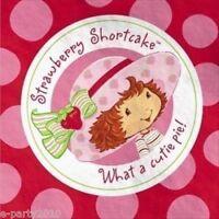 STRAWBERRY SHORTCAKE SMALL NAPKINS (16) ~ Birthday Party Supplies Cake Beverage