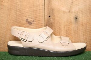 SAS 'Relaxed' Beige Leather Slingback Ankle Strap Sandals Women's Sz. 12M