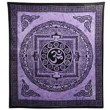 Tagesdecke OM Mandala Türkis 235 X 215 Cm Überwurf indische decke Dekoration