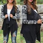 Plus Size Women Tribal Waterfall Cape Cardigan Top Aztec Poncho Wrap Coat Jacket