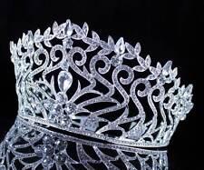 ABt994 Fancy Beauty Queen Crystal Rhinestone Tiara Crown Hair Combs Pageant