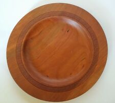 DOVER CHERRY WOOD PLATE CHARGER  TINA MINAHAN 2009 HAND TURNED CARVED PLATTER