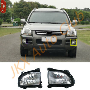 A Pair Left&Right Front Bumper Fog Light Lamp x For Kia Sportage 2.0L 2.7L 05-07