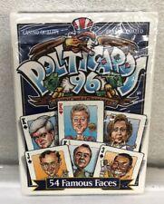 Politicaeds 96, Plastic Coaded, Blue Color 54 Famous Faces, Factory Sealed, New