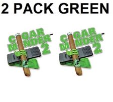 2 Pack Green Cigar Minder Clip Saver Holder Support Perfect for Golf Cart Patio