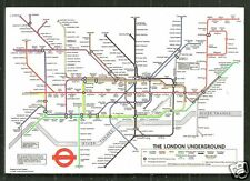 Underground Map postcard Metro London England stamp 1978