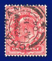 1902 SG219 1d Scarlet M5(1) Good Used Chatham CDS AP 15 04 atfc