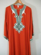 Vintage Moroccan Djellaba Jillaba Kaftan Dress Traditional Ethnic Clothing Small
