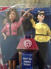 2016 Barbie President & Vice President Latina Hispanic Brunette 2 Doll Set Nrfb!