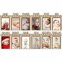 12 Months Photo Frame Banner First Happy Birthday Decorations for Baby Boy Girl