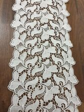 Premium Quality 3.5inch//9cm Pale Ivory//Off white Rose Design Flat  Lace Trimming
