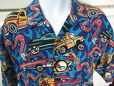 Mambo loud shirt men's L low rider cars & snakes rare out of print