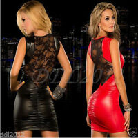 Women's Sexy Slim Sleeveless Bodycon Nightclub Party Cocktail Pencil Mini Dress