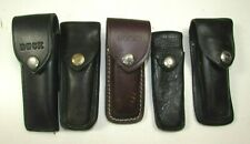 Lot of BUCK Leather Knife Pouches or Sheaths for Folding Knives