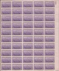 US Stamp - 1948 Fort Kearny - 50 Stamp Sheet - Scott #970