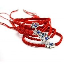 New Red String Hamsa Hand Evil Eye Lucky Kabbalah Boho Festival Chic Bracelet