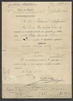 Q44-DOCUMENTO BANCO ESPAÑA 1904   EN MURCIA,FEDERICO DELGADO MORALES,CEHEGIN