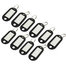 Black Plastic Key Chain / ID Tag, 10 Pieces - Silver, One Size Z5Z1