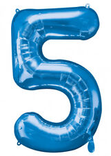 Large Blue Number 5 Helium Balloon
