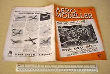 1939 VINTAGE AERO MODELLER MAGAZINE V4 #43. MISTERO BOMBARDIERE DOUGLAS solido piani