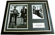 GEORGE MARTIN Signed FRAMED Photo Autograph Display Beatles Producer Music & COA