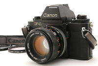 【MINT】 Canon New F-1 AE Finder SLR Film Camera w/ FD 50mm ssc Lens from JAPAN