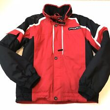 SPYDER Mens Small Red Black Detachable Sleeve Stowaway Hood Ski Snowboard Jacket