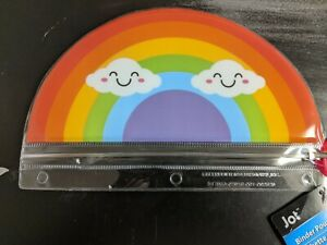 Brand New with Tags, Jot - Rainbow Binder Pouch Pen / Pencil Holder Case