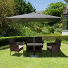 4pc Rattan Garden Patio Furniture Set Outdoor - 2 Chairs 1 Sofa & Coffee Table