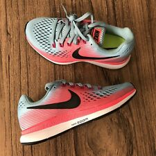 A858 Nike Women's Air Zoom Pegasus 34 Mica Blue Pink 880560-406 Size 5.5 NEW