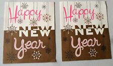 Vintage 1940s? Happy New Year TWO Cards Unused No Envelope Art Guild