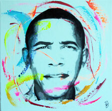 obama usa TABLEAU pop street art graffiti PyB painting canvas signed french