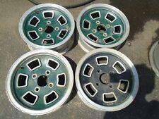 "Vintage 13""x5""  Mag Aluminum Wheel Rims Set of 4 Bolt Pattern 4x4.5"