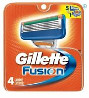 GILLETTE FUSION 4 COUNT REPLACEMENT CARTRIDGES