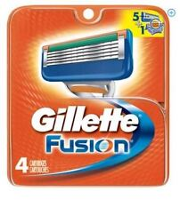 GILLETTE FUSION 4 COUNT REPLACEMENT CARTRIDGES *FREE SHIPPING*