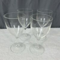 Vintage Epic Set of 4 Acrylic Wine Glasses 10 oz Glass Poolside Safe Made in USA