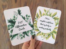 IVF affirmation cards x12 encouragement empower fertility journey infertility