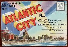 Greetings From Atlantic City N. J. USA Tichnor Quality Views Lettercard 1953