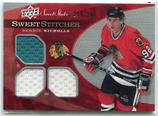 2007-08 Sweet Shot Sweet Stitches Triples Bernie Nicholls Triple Jersey 209/299