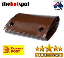 Brown Faux Leather Cigarette Tobacco Pouch Bag Case Paper Birthday Gift