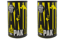2 x ANIMAL Pak Universal Nutrition Multi-Vitamin Mineral Enzyme 2 X 44 Packs