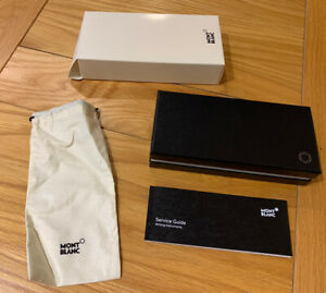 Mont Blanc Pen Presentation Box, Bag And Service Guide Unused. Pen Not Included