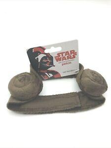 "PETCO Star Wars Princess Leia Cat Headpiece O/S""Cinnabons""Brown Iconic Buns NEW"