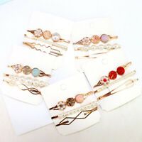 Women Hair Clip Hairband Pin Barrette Hairpin Hair Bangs Head Crystal Pearls