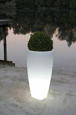 """Pflanzkübel Blumenkübel Pflanzsäule """"City"""", Kunststoff beleuchtet, 80 cm, Weiß"""